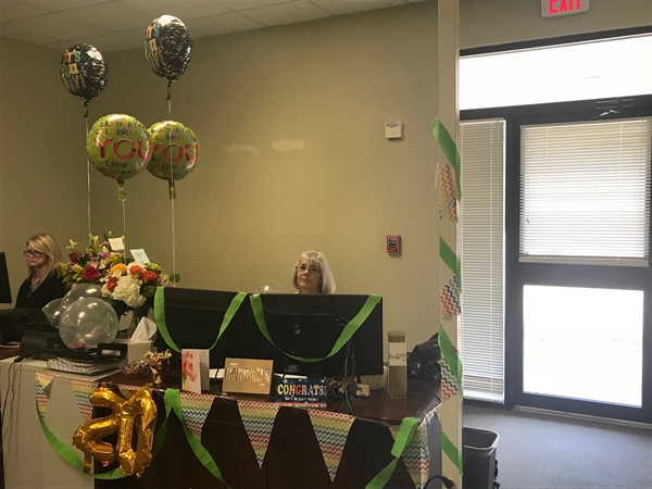 Barbara was showered with gifts from other employees who have appreciated the impact she has had during her time at Scott Logistics.
